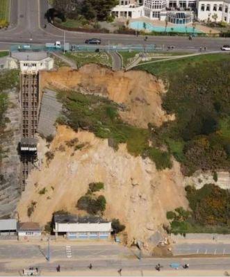 Bournemouth cliff slip